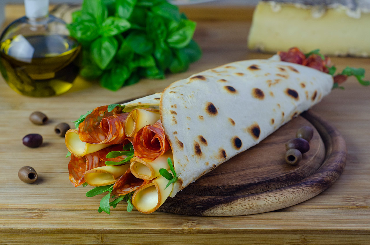 Piadina Mortadella e gorgonzola